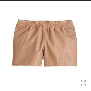 J CREW COLLECTION   perforated leather shorts 8